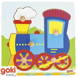 Goki Wooden Locomotive Lift Out Puzzle (57551)