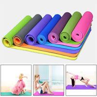 6MM/8MM Fitness TPE Yoga Mat Non Slip  Resilient Natural Rubber Exercise