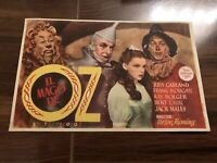 Vintage Rare The Wizard Of Oz Foreign Spanish Film Herald W Judy Garland