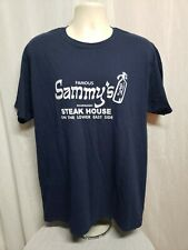 Famous Sammys Roumanian Steak House on Lower East Side Adult Large Blue TShirt