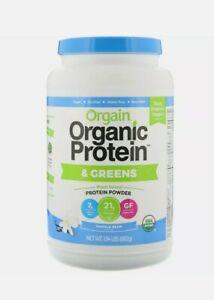 Organic Protein & Greens Protein Powder Plant Based Vanilla Bean 1.94 lbs