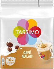 80 Boissons TASSIMO Goût Café Au Lait 5 Pack de 16 Tdisc Saveur Intense Déjeuner