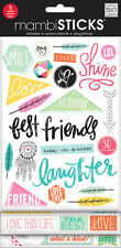 MAMBI Stickers - Best Friends With Glitter 5 sheets Sticks
