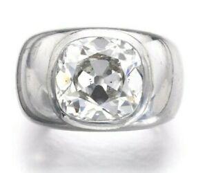 Men's Solitaire Sim Diamond Wedding Ring Old European Cut 925 Sterling Silver