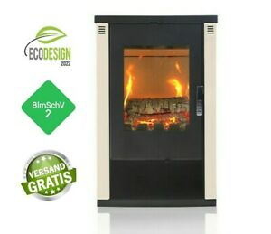 EEK A + Stove with large viewing window-Verso lheia 7,5 KW White