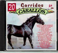 20 Corridos de Caballos El Coyote Valente Pastor J Vargas  BRAND  NEW SEALED  CD