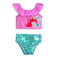 a42d5355a1ef6 Disney Store Princess Ariel Two Piece Baby Swimsuit 3 6 9 12 18 24 Months