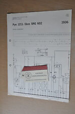 Trader Service sheet 1936 Pye 1211 Ekco SRG602 Radiogram Vintage Service Manual