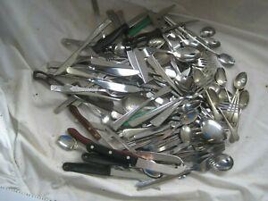 JOB LOT of Vintage Stainless Steel CUTLERY Fish Forks SHEFFIELD STEEL Viners 5kg