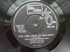 Diana Ross / Marvin Gaye - Stop, Look Listen / Love Twins UK Motown TMG 906