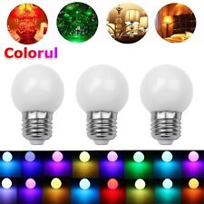 RGB LED Blub Light Auto Color Change E27 3W Coloful Globe Lamp 110V 220V Decor S