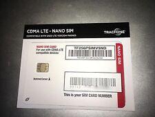 Tracfone on Verizon Nano 4G LTE SIM Card UCCID CDMA LTE NanoSIM BYOP