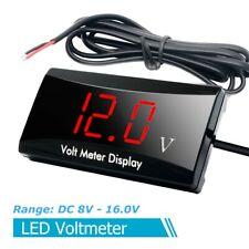 Car Motorcycle 12V Digital LED Display Voltmeter Voltage Gauge Panel Meter