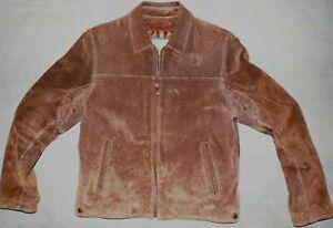 Men's Wilson's Leather brown suede trucker/flight jacket size M