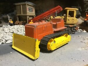 Vintage Tootsie Toy Bull Dozer with Rubber Tracks, 1/43 Scale?
