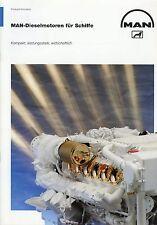 Prospekt MAN Dieselmotoren für Schiffe 9 94 1994 Diesel engines for ships