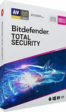 BITDEFENDER TOTAL SECURITY 2020 - INCLUDES VPN - 5 PC DEVICES 3 YEARS - DOWNLOAD