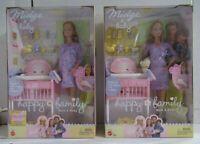 Lot 2 Mattel Barbie Happy Family Pregnant Midge Mom and Baby 56663 & B8719