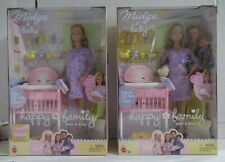 Lot 2 Mattel Barbie Happy Family Pregnant Midge Mom and Baby 56663 & B8719