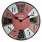 33 cm, Vintage Reloj de pared madera redondo Rústico Retro Moderno Sala Hogar
