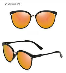 Retro Fashion Womens Cat Eye Sunglasses Eyewear Shades Mirror UV400 Extra Light