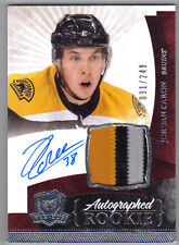 10-11 Jordan Caron The Cup Auto Rookie Card RC #167 Sweet Patch 091/249 Mint