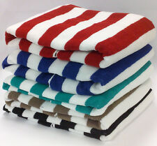 5X 100% COTTON STRIPED STRIPE POOL BEACH TOWEL RED BLUE BLACK GREEN BROWN 75X150
