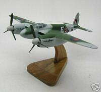 De Havilland Mosquito DH-98 Bomber Airplane Wood Model Free Shipping