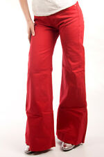 Parasuco Size 27 $156 CAD Red High Rise Wide Leg Ladies Denim Jeans NWT 8100-HQ