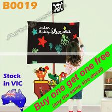 B0019 Blackboard Reusable Pirate Wall Decal Sticker Nursery Baby Kids Child Room