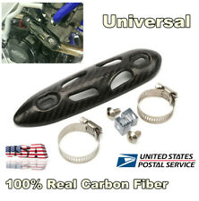 Motorcycle ATV Exhaust Pipe Carbon Fiber Heat Shield Cover Leg Ankle Burn Guard