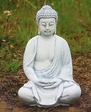 SITZENDER BUDDHA, ASIATISCH BUDDHA FIGUR STEINGUSS, NEU,FROSTFEST BUDDHAS 4013