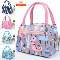Waterproof Portable Adults Womens Girls Lunch Bag Box Insulated Kids Picnic Tote