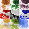 50g Round Glass 6/0 Transparent Seed Beads about 625pcs/50g 4mm Jewelry Making