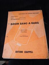 Partition Boom bang a bang Eurovision 1969 Music Sheet