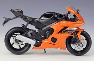 Welly 1:12 2020 YAMAHA YZF R6 Orange Diecast Motorcycle Bike Model New In Box