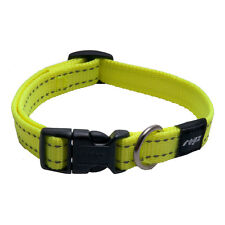 Rogz Dog Collar Side Release - Snake Medium 10-14in neck - Utility DayGlo Yellow