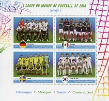 Madagascar 2018 MNH World Cup Football Russia Germany Sweden 4v M/S Stamps