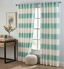 Cambree Stripe 63-Inch Rod Pocket Window Curtain Panel in Spa
