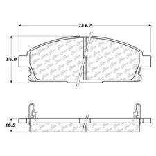 Disc Brake Pad Set-Fleet Performance Pads with Hardware Front Centric 306.06911