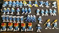 Lot of 41 Smurfs Peyo McDonald's Figures from 2011, 2013