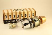 Dominion Lock Bathroom Door Knob Handle Chrome Bronze Combo Vtg 1960s Hardware