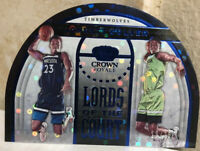 2019-20 CROWN ROYALE LORDS OF THE COURT BLUE #3 JARRETT CULVER RC ROOKIE SSP /75