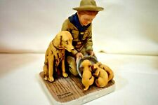 Vintage Norman Rockwell Boy Scouts Good Friends Figure Dave Grossman (0121J)