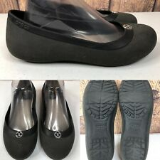 Womens CROCS Charcoal Gray Flats Loafers Shoes SIZE 8