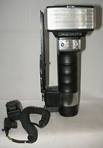 Metz 45CT4 flash with sensor and bracket