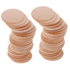 50pcs 36mm Unfinished Wooden Round Circle Discs Embellishment for Art Craft