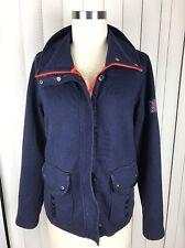 Ralph Lauren Active L-RL Women's Navy Blue Cotton Blend Full Zip Jacket Large