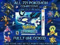 Pokemon Alpha Sapphire Unlocked| Events+ more | All Shiny Pokemon | All Items!