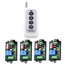 RF Universal Remote Control Switch 110V 220V 1CH Receiver Relay for Light Garage
